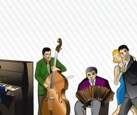 Tango Orchestra Illustration vector