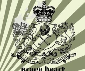 Grunge Heraldry vector material