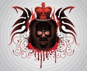 Skull Tattoo vector graphics