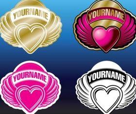 Heart Logos design vectors