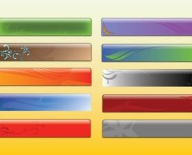 Glossy Banner Graphics vector