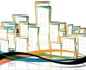 Abstract City Elements vector