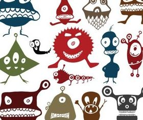 Creative Cute Monsters vector
