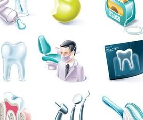 Stomatology Icons Vector