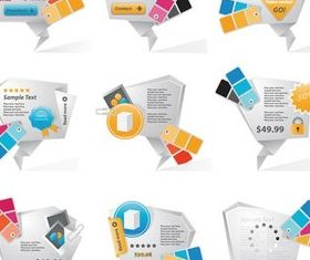 White 3D Web Elements vector set
