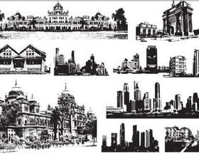 Cities world vector material