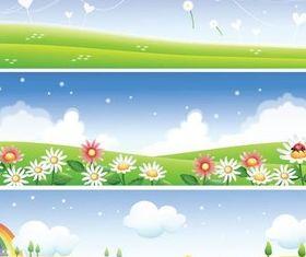 Landscapes Banners vector design