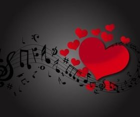 Love Music vectors graphics