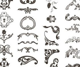 Ornaments free vector