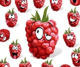 Cartoon fruit set 2 vector