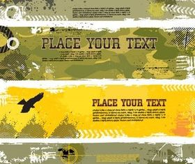 Military Grunge Banner vector