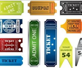 Colorful Tickets vector