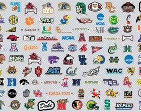 NCAA Basketball Logos set 1 vectors
