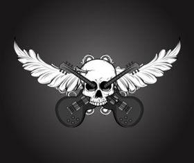 Motor Skull shiny vector