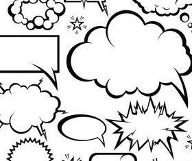 White Inform Clouds design vector