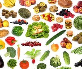 Different Health Food vector set