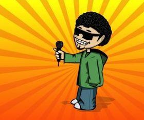 Cool Guy Cartoon vectors