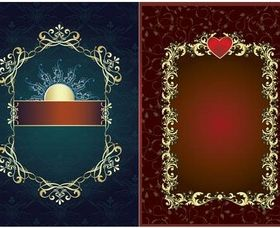 Backgrounds with frames vector