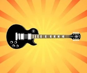Electric Guitar Illustration set vector