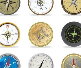 Different Style Compasses vector graphics