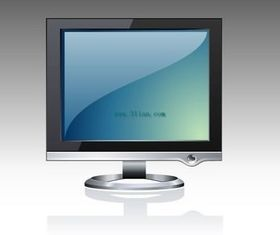 Realistic LCD design vector