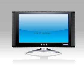 LCD TV picture vector