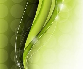 Green Backgrounds free vector set