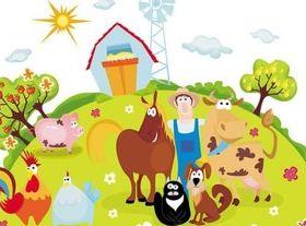 Farm animal cartoon vector