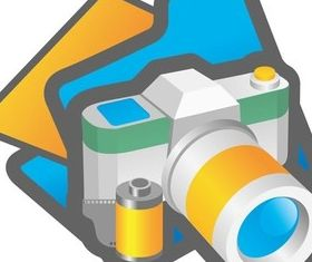Digital camera Illustration vector