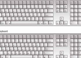 Keyboard layout vector