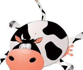 Cute cartoon animal design set vector