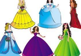 beautiful princess vectors graphics