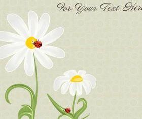 Small fresh flower set design vector