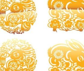 Stylsh Gold Ornaments vector