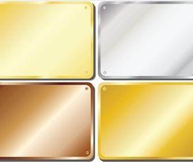 Metal Plates vector