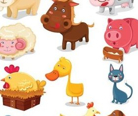 Cartoon animal design 3 vector