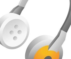Earphone and headset 2 vector graphics