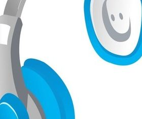 headset with earphone 1 vector graphics
