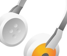 Earphone and headset vector