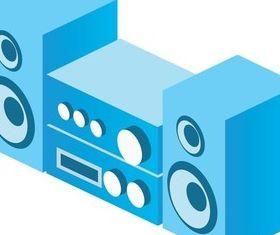Audio equipment set vector