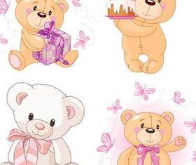 Cute Bears graphic vector