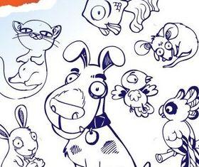 Cartoon animal design 1 vectors