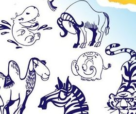 Cartoon animal design 2 vector