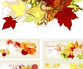 Bright maple leaf vector graphics