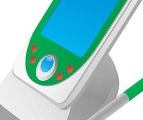 Supplies technology communication design vector