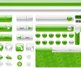 Green Web Elements Vector creative