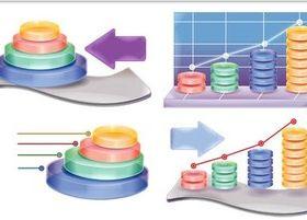 Color 3D Diagrams free vector