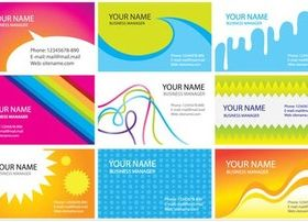 Color Cards vector material