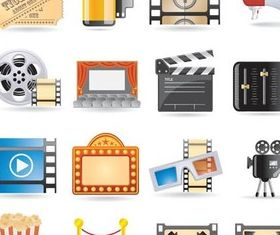 Different CinemItems Illustration vector
