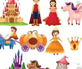 Cute cartoon fairy tale 2 vector